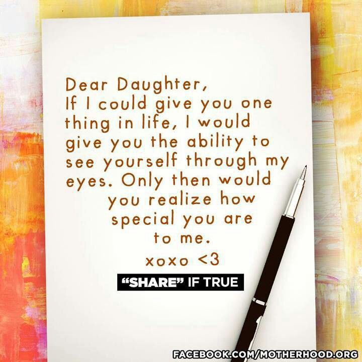 I love my girls no matter how old you are or how grown you feel...