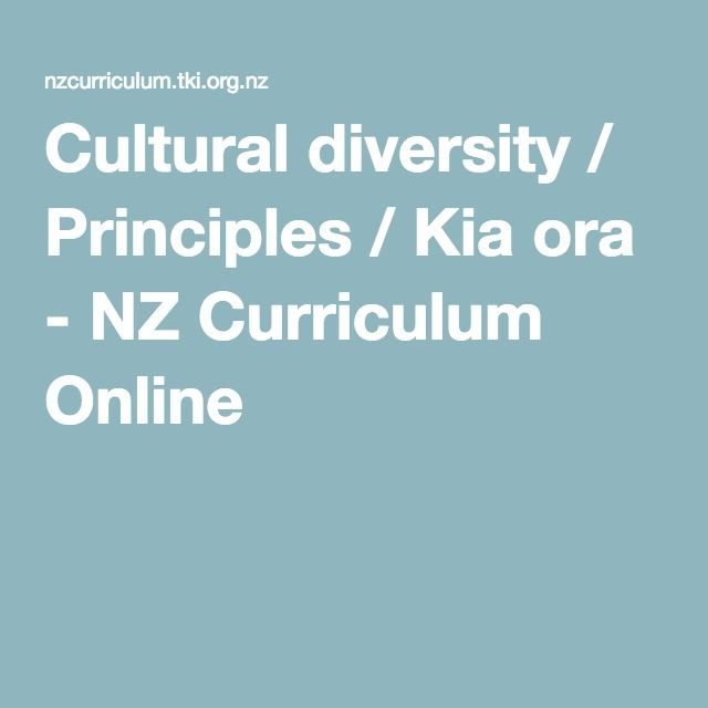 This link was particularly useful in my study this semester. It draws together research, digital resources, and examples to support schools as they consider the cultural diversity principle. Cultural diversity / Principles / Kia ora - NZ Curriculum Online