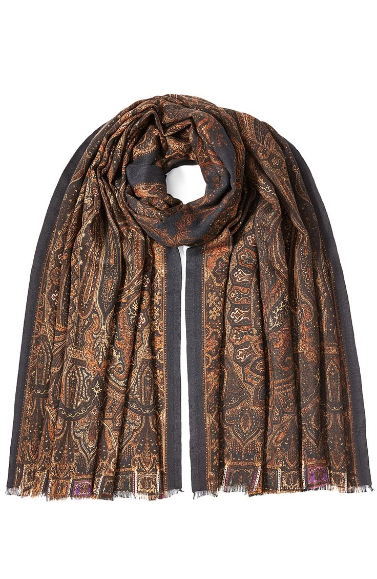 Cashmere-Silk Printed Scarf detail 0 | Shoes & Accessories ...