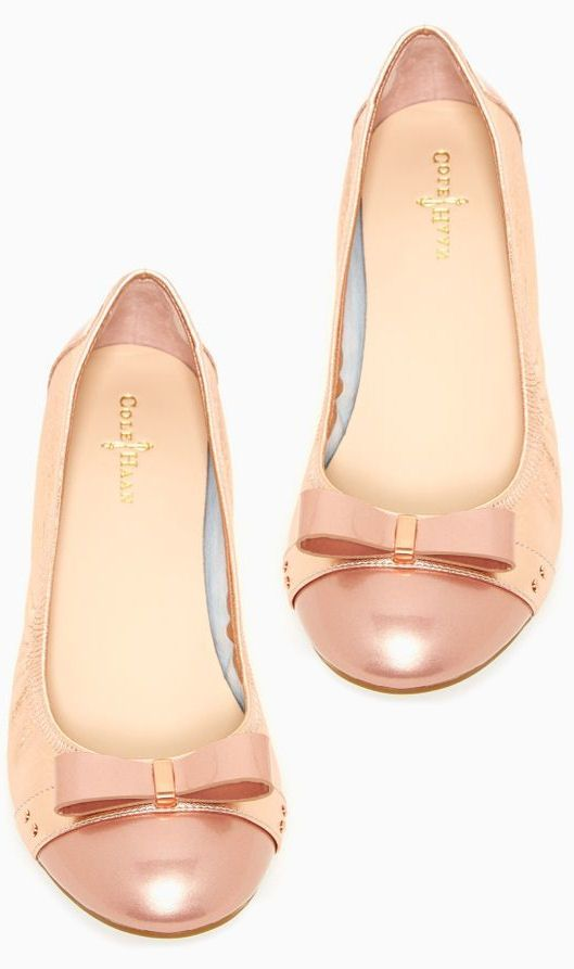 Cole Haan Ballet Bow Flats ღ Great color. Love the detail.
