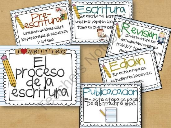 El Proceso de la Escritura from Building Bridges on TeachersNotebook.com (6 pages)