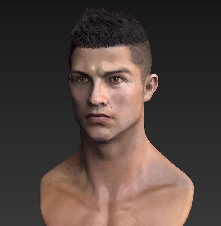 C ronaldo likeness modeling. zbrush