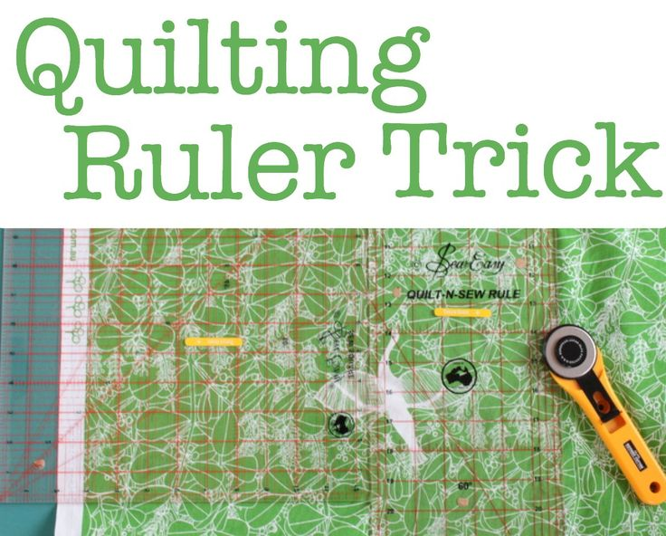 Quilting Tip: Using Two Rulers Together - sometimes you don't have a wide enough quilt ruler to use with your rotary cutter and cutting mat, but here's a trick to use two rulers together: http://thecraftymummy.com/2014/05/quilting-tip-using-two-rulers-together/ #quilting #patchwork #tips #tutorial