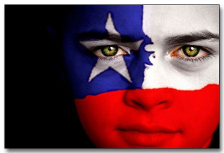 Chile Flag Face |