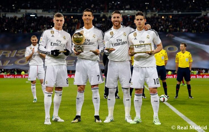 Kroos, Ronaldo, Ramos, James Rodriguez