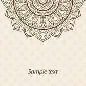Karte oder Einladung. Mandala. Alte dekorative Elemente. Handgezeichnete Hintergrund. Islam, Arabisch, Indisch, osmanische Motive — Stockvektor #77496258