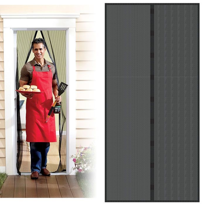 Superior Trademark Home Auto Open/ Close Magnetic Screen Door (screen)