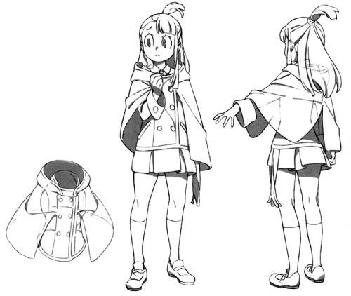 artbooksnat:  Little Witch Academia (リトル ウィッチ アカデミア)Character designs of Akko…