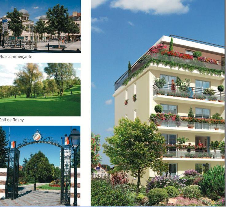 """2 Rue Voltaire"""" à Rosny sous Bois. architecture contemporaine et distinguée, agrémentée de balcons, de terrasses en cascade ainsi que de vastes jardins privatifs. ce programme immobilier neuf regroupe tous les avantages pour vous permettre de devenir propriétaire, soit dans le cadre d'une résidence principale (grâce au prêt à taux zéro), soit dans le cadre d'un investissement locatif (dans le cadre de la loi Pinel)…"""
