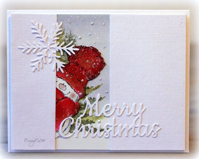 Here´s my card for the sketch at CAS Colours & Sketches blog this week! I used stamps and dies from Penny Black. SnowyWoodland BeautySnowflake duoMerry Christmas Psst...Snowy is saying hello to Judy J