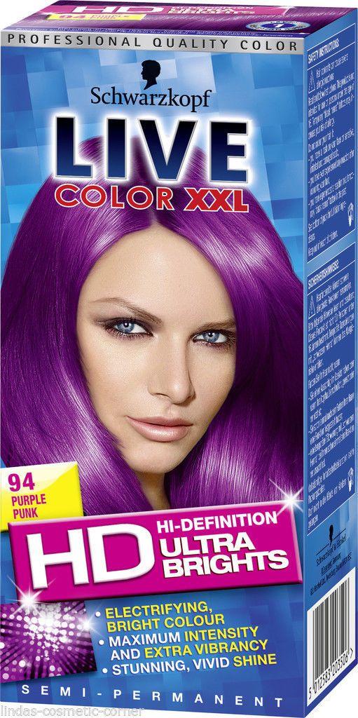 Schwarzkopf Hair Color Live XXL Ultra Brights Purple Punk No 94 | eBay