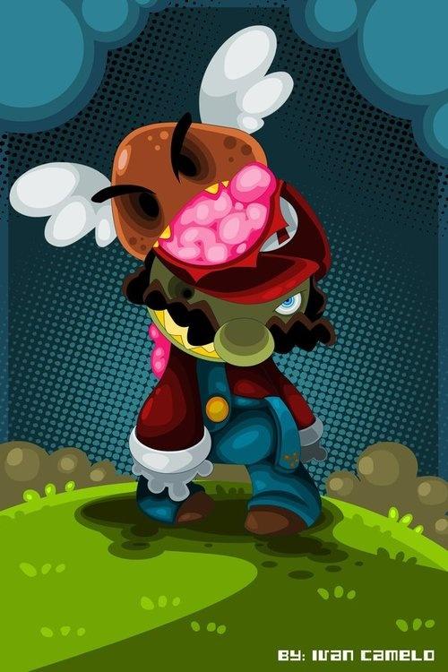 Zombie Mario byIvan Camelo.