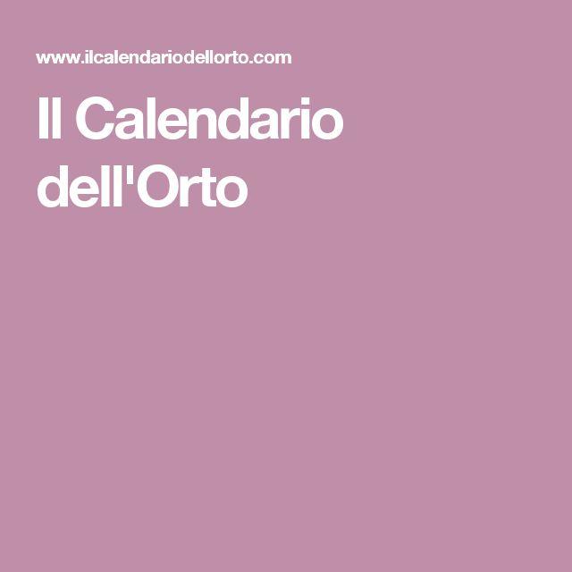 Il Calendario dell'Orto