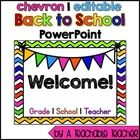 I designed this colorful chevron PowerPoint presentation for Back to School Night, or PIN (Parent Information Night). This is an EDITABLE PowerPo...