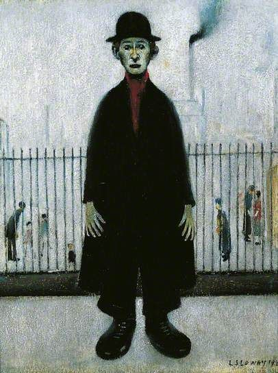 Laurence Stephen Lowry: A Lancashire Cotton-Worker, 1944