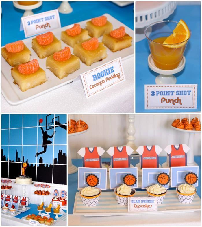 basketball themed 1st birthday party with really cool ideas via kara 39 s