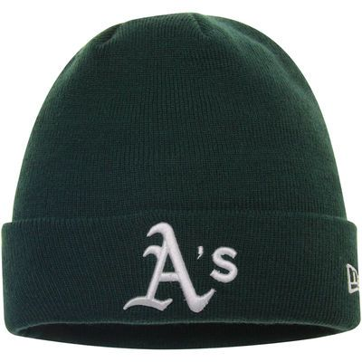 Oakland Athletics New Era Solid Cuffed Knit Hat - Green
