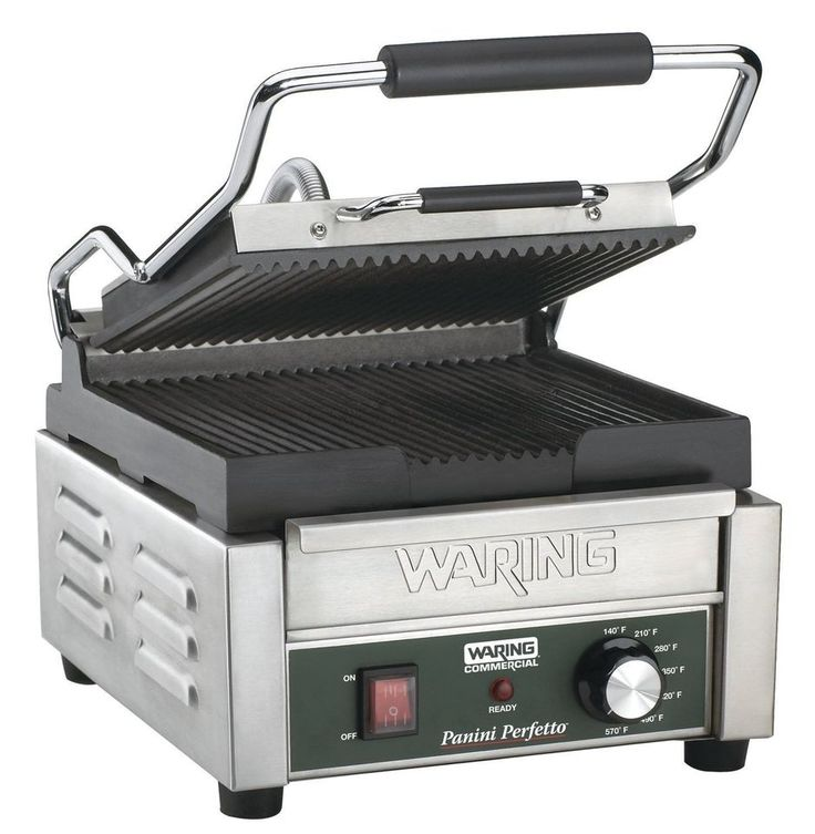 NEW! Waring Commercial Compact Italian-Style 120-V Panini Grill Press Gourmet
