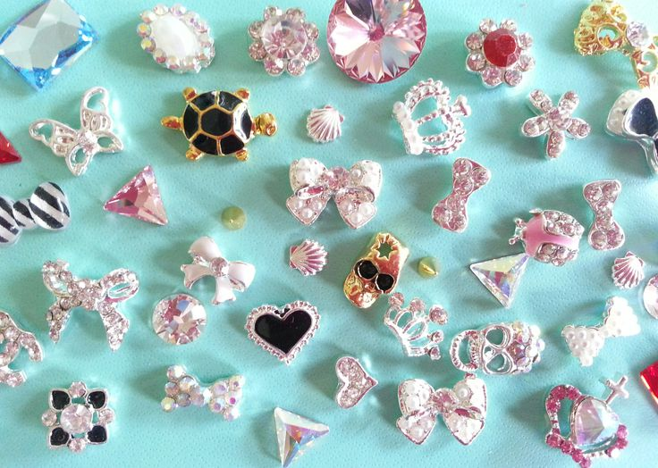 3D Nail Charms, Studs, Spikes, Swarovski Crystals, Cabochons & more! Visit my online store www.shopNailsDoneRight.com For nail appointments with me Linda Reyes visit www.nailsdoneright.com and schedule appointments online 24/ 7
