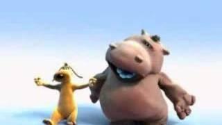 The Lion Sleeps Tonight - Hippo Singer & Dancing Dog, via YouTube.
