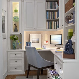 small office area for a master bedroom.