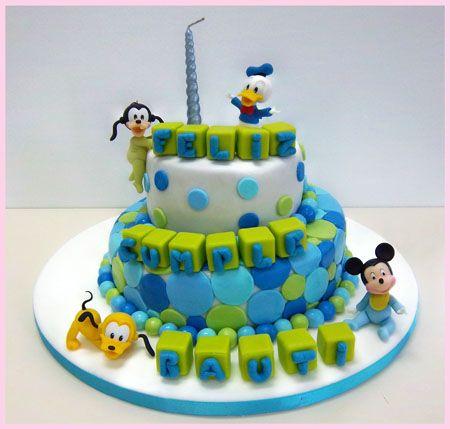 Nuevas Tendencias en Decoración de Tortas: Tortas de Cumpleaños de 1 Año.