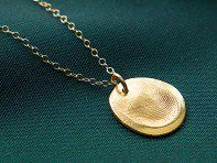 Turn your loved one's fingerprint (or even a pet's nose) into a personalized keepsake. This Tennessee company helps you make a piece that's 100% unique.