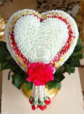 Thai wedding flower sculpture.