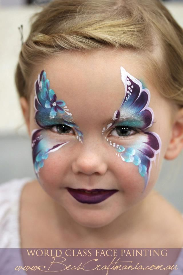 Becstar Anthony design pretty color combo face painting ideas for kids