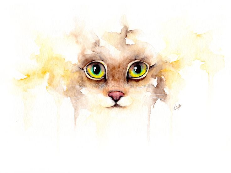 water colout cat tattoo - Google Search