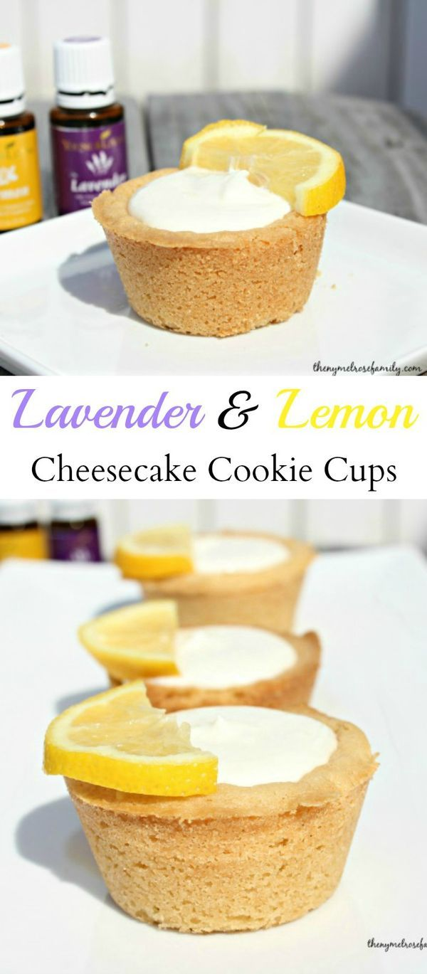 Lavender & Lemon Cheesecake Cookie Cups are the perfect summer dessert.