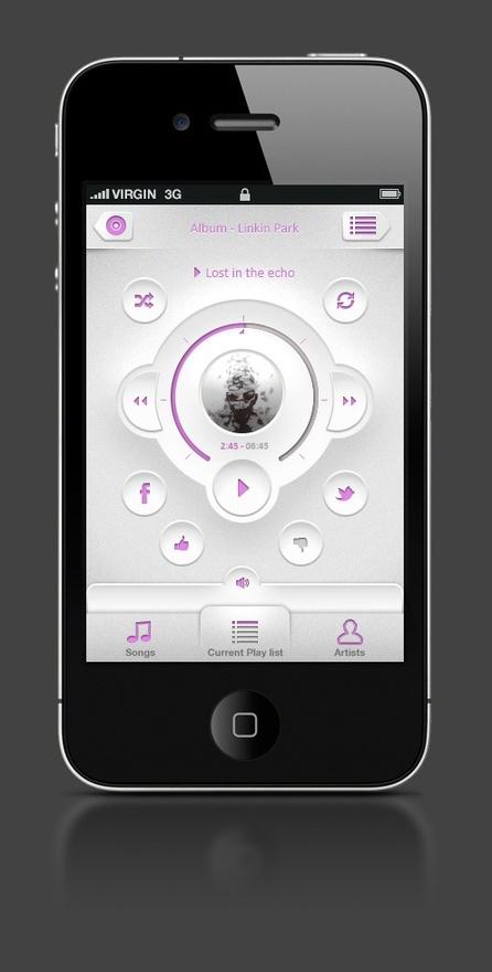 Music player mobile-tablet-design