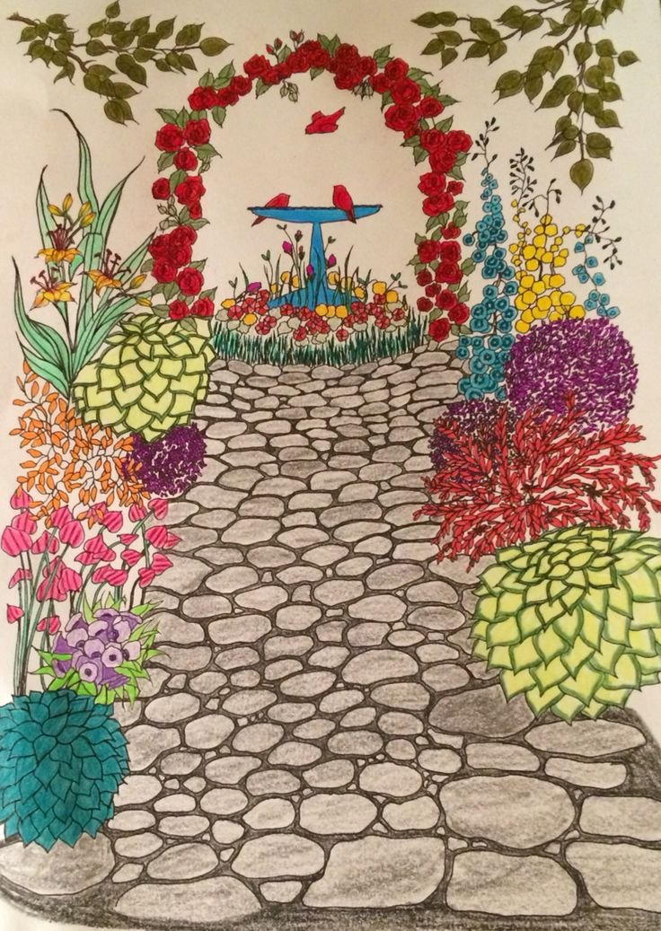 1000 Images About Whimsical Gardens Coloring Book On