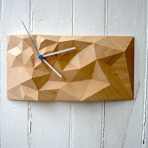 Recreate DIY? - Block Clock 12x6 Maple now featured on Fab.
