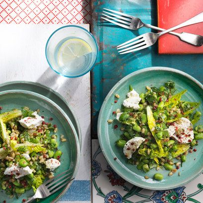 Ottolenghi's Broadbean and Freekeh Salad   For the full recipe and more dinner party ideas, visit Red Online
