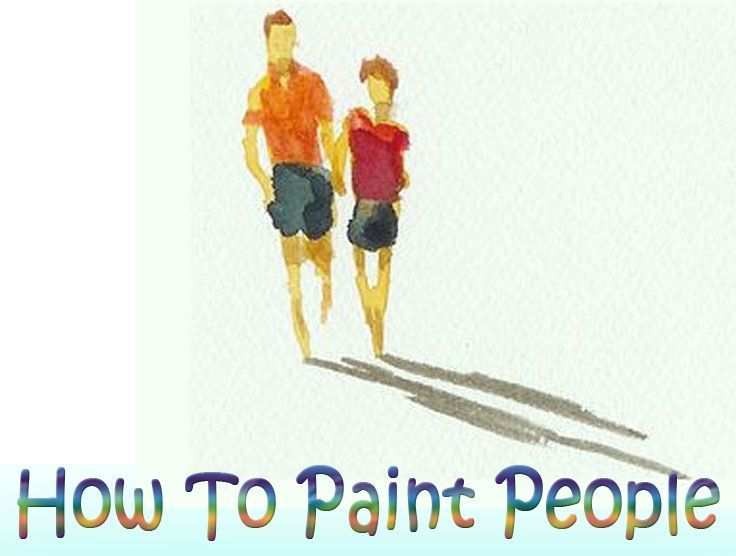 How to paint people with watercolors can be done as a detailed portrait or a simple suggestion of a figure, either way it will add interest to your painting.