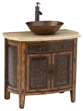 Image Gallery For Website Rustico Vessel Sink Chest traditional bathroom vanities and sink consoles Ambella Home