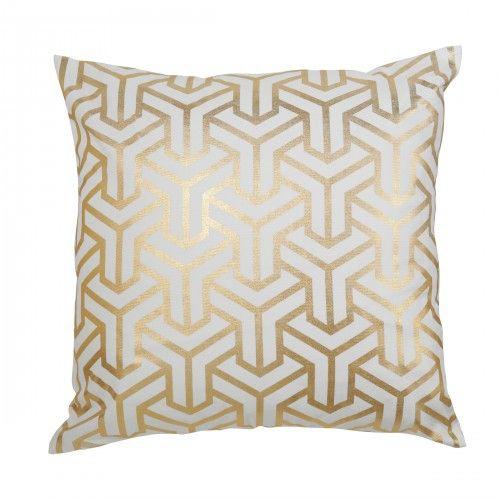 Caitlin Wilson Textiles Gold Hong Kong Pillow Glitz And