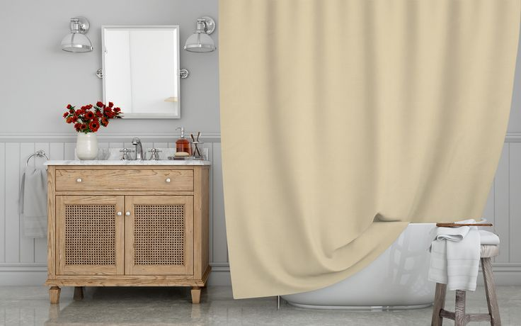 Stop Neglecting Your Bathroom S Decor Our Designer Shower Curtains Bring A Fresh New Look Instantly To An Ove Fabric Shower Curtains Home Decor Bathroom Decor