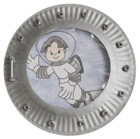 Paper Plate Spaceship Porthole Craft