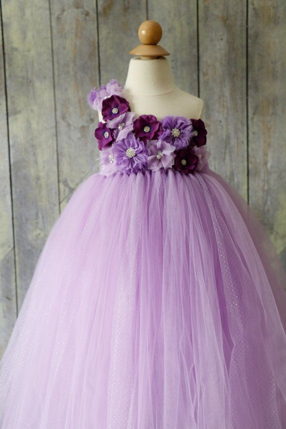 Purple Flower girl Dress Flower girl dress by Pixiecoutureonetsy, $55.00