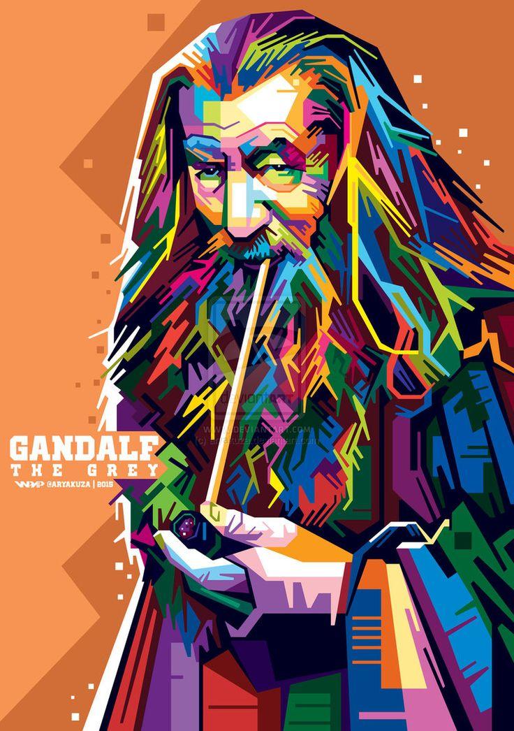 Gandalf in WPAP by aryakuza
