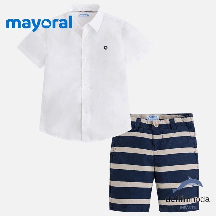 Conjunto de niño MAYORAL camisa manga corta y bermuda de lino