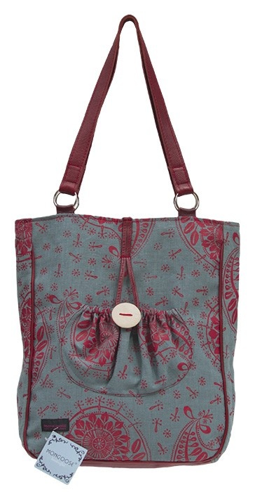 MONGOOSE JEMSI BAG PAISLEY PATTERN CORAL TEAL