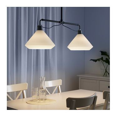 IKEA ÄLVÄNGEN pendant lamp double The height is adjustable to suit your lighting needs.