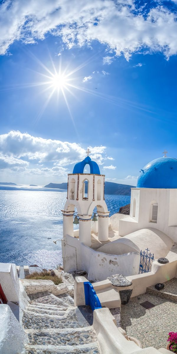 Santorini, Greece. Click to shop Matthew Williamson beachwear.