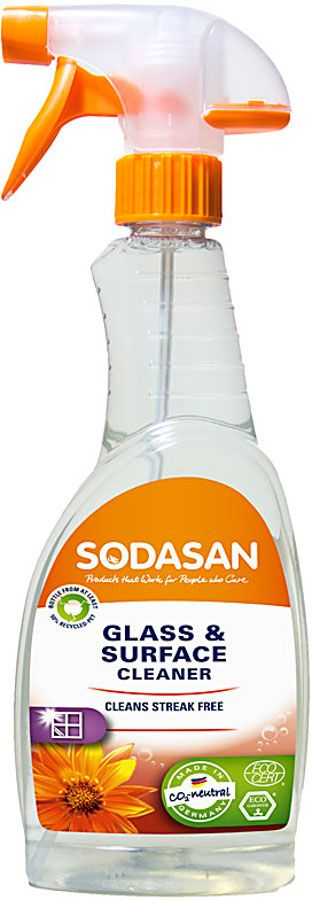 Sodasan Glass & Surface Cleaner - 500ml - Ethical Superstore