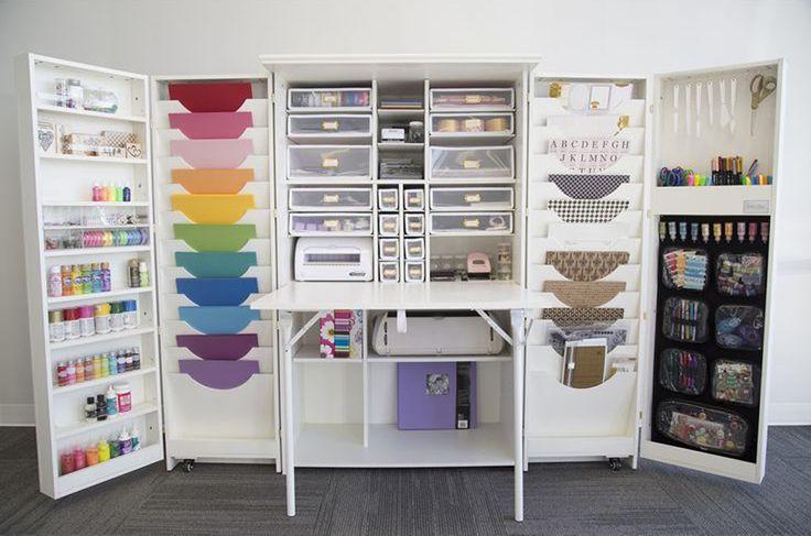 Mueble para ordenar material crafts