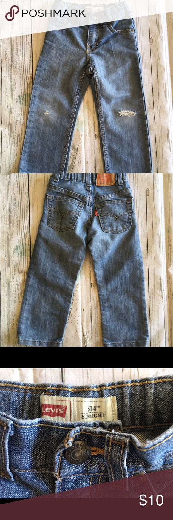 Levi's 514 Toddler Boys Distressed Jeans Size 3T Levi's 514 Toddler Boys Distressed Light Wash Denim Jeans Size 3T . #1222716 Levi's Bottoms Jeans