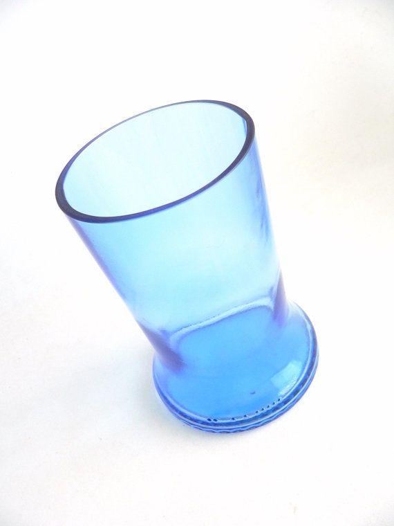 Pale Blue Pinnacle Vodka Bottle Drinking Glass ON SALE 50% OFF